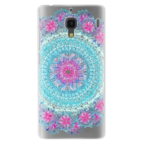 Redmi 1s Cases - Centered Pink & Teal Floral Mandala