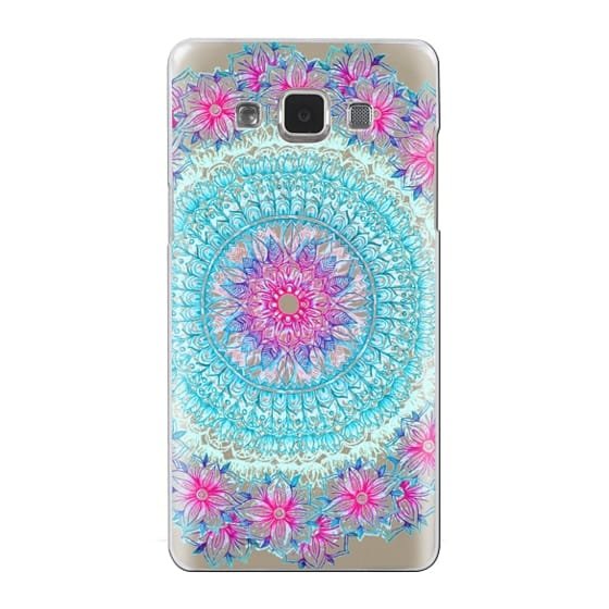 Samsung Galaxy A5 Cases - Centered Pink & Teal Floral Mandala