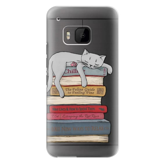 Htc One M9 Cases - How to chill like a cat - transparent