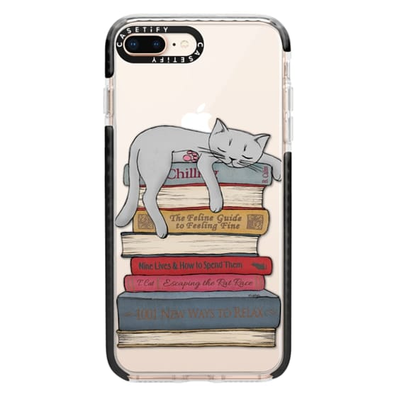 iPhone 8 Plus Cases - How to chill like a cat - transparent