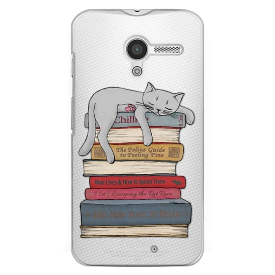 Moto X Cases - How to chill like a cat - transparent