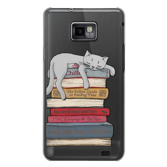 Samsung Galaxy S2 Cases - How to chill like a cat - transparent