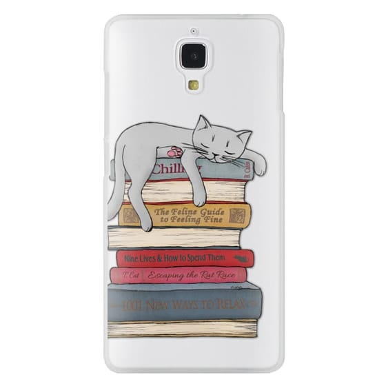 Xiaomi 4 Cases - How to chill like a cat - transparent
