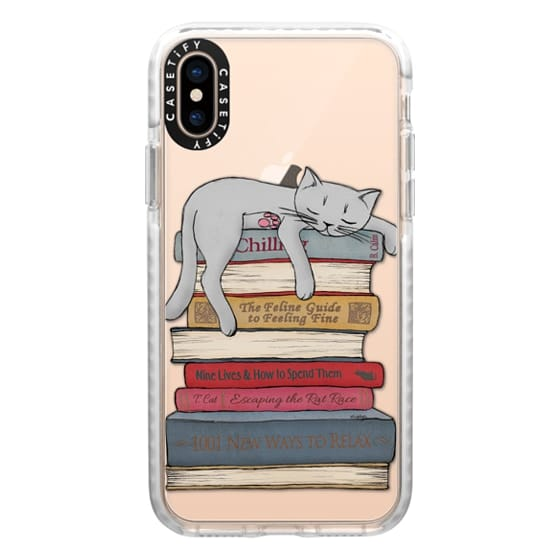 iPhone XS Cases - How to chill like a cat - transparent