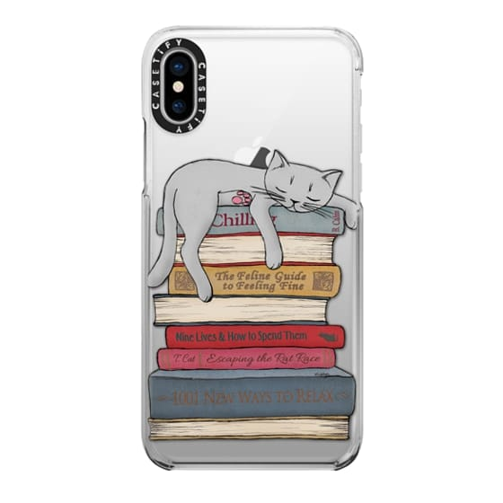 iPhone X Cases - How to chill like a cat - transparent