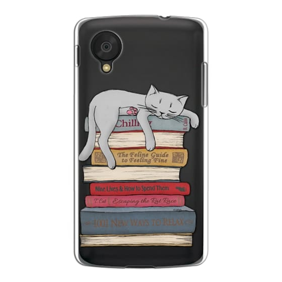 Nexus 5 Cases - How to chill like a cat - transparent