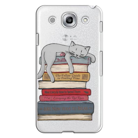 Optimus G Pro Cases - How to chill like a cat - transparent