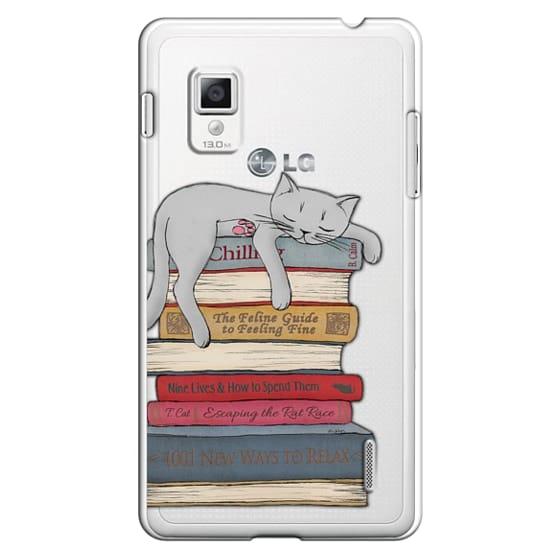 Optimus G Cases - How to chill like a cat - transparent