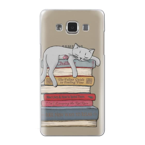 Samsung Galaxy A5 Cases - How to chill like a cat - transparent