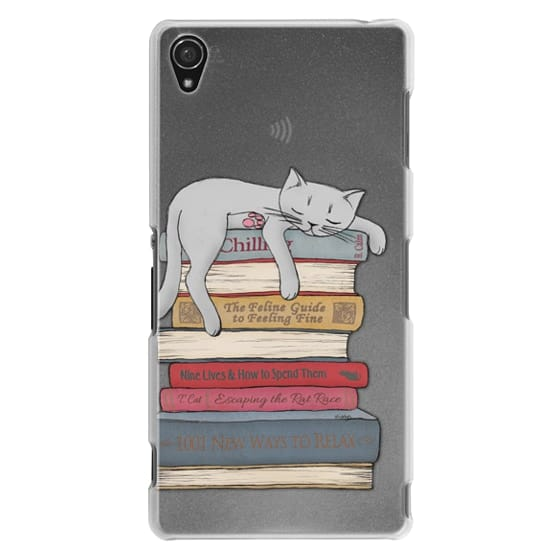 Sony Z3 Cases - How to chill like a cat - transparent