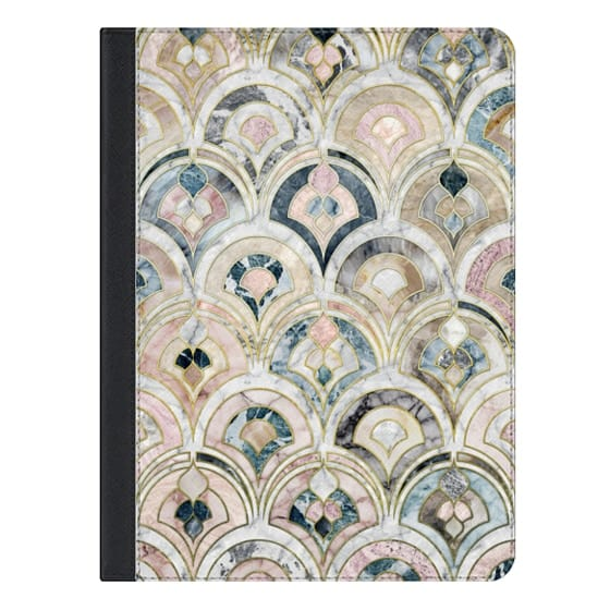 iPad Air 2 Covers - Art Deco Marble Tiles in Soft Pastels iPad cover