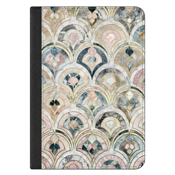 iPad Mini 4 Covers - Art Deco Marble Tiles in Soft Pastels iPad cover