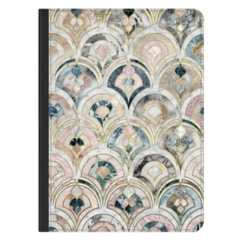 iPad Pro 12.9-inch Case - Art Deco Marble Tiles in Soft Pastels iPad cover