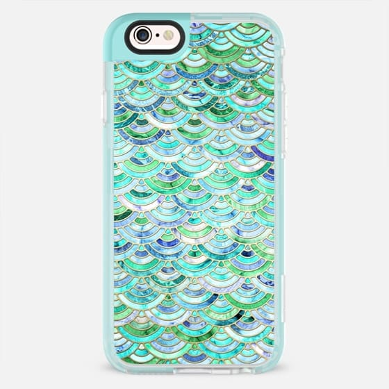 Marble Mosaic in Mint Quartz and Jade - New Standard Pastel Case