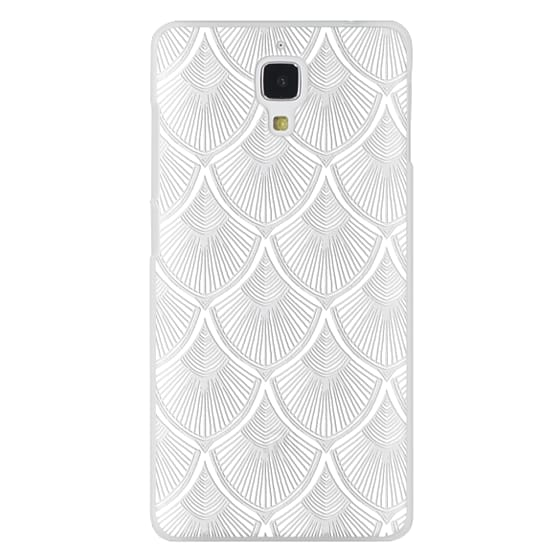 Xiaomi 4 Cases - White Art Deco Lace on Crystal Transparent