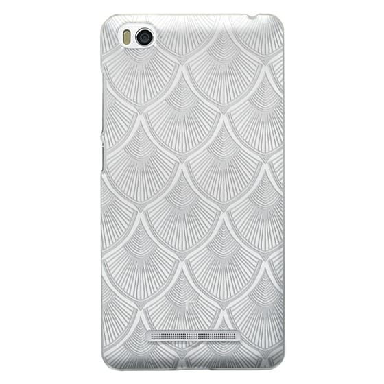Xiaomi 4i Cases - White Art Deco Lace on Crystal Transparent