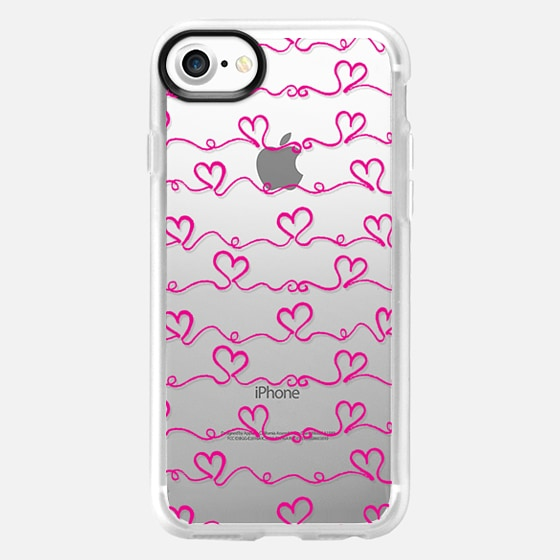 Heart Wave Pink - Wallet Case