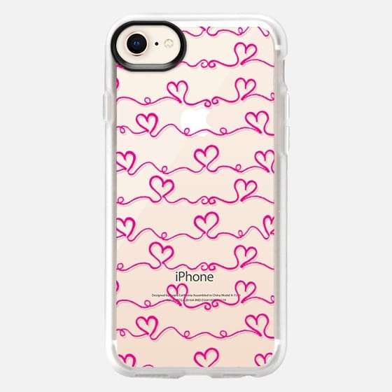 Heart Wave Pink - Snap Case