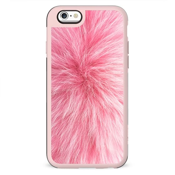 Pink fur texture