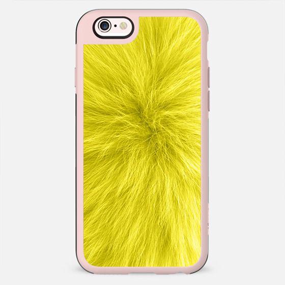 Yellow fur texture