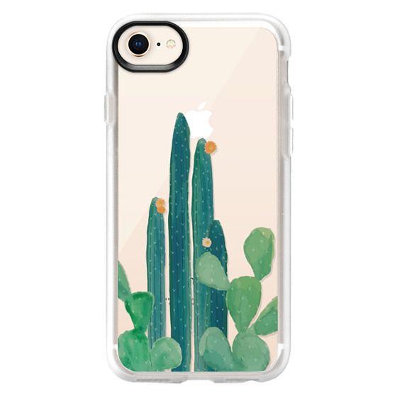 new style b656c dfe40 Classic Grip iPhone 8 Case - Watercolor Cactus