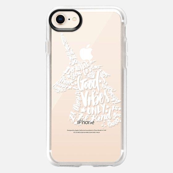 Good Vibes White Unicorn Plus - Snap Case