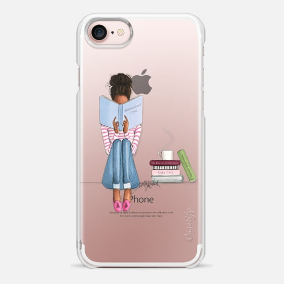 Bookshelf Chic (Girl Reading Transparent Case)