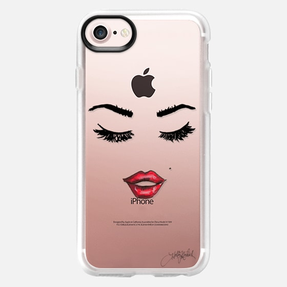 Five More Minutes (Eyelashes Transparent Phone Case) - Wallet Case