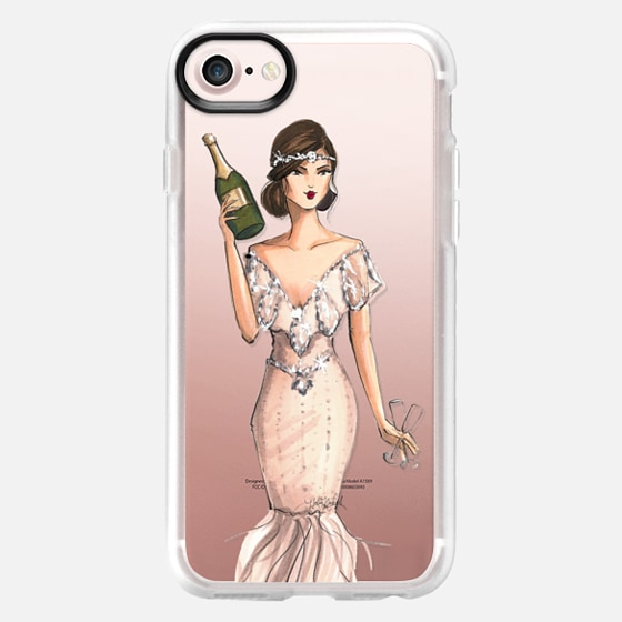 I'll Bring the Bubbly (Champagne Girl, Fashion Illustration Clear Case) - Wallet Case