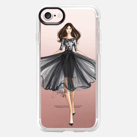 Posh (Fashion Illustration Transparent Phone Case) - Wallet Case
