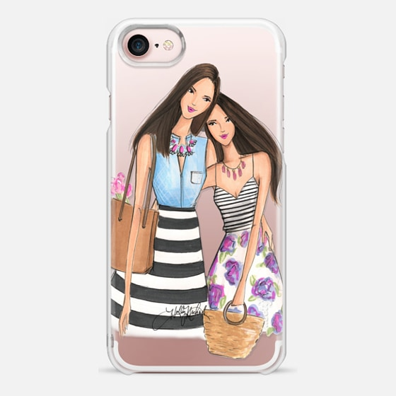 Mother's Day (Brunette Fashion Illustration Transparent Case)