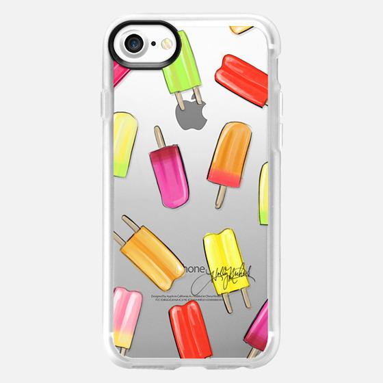 Popsicle Shuffle (Fashion Illustration Transparent Case) - Wallet Case