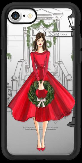 Holly Lane (Holiday/Christmas Fashion Illustration Case, Brunette)