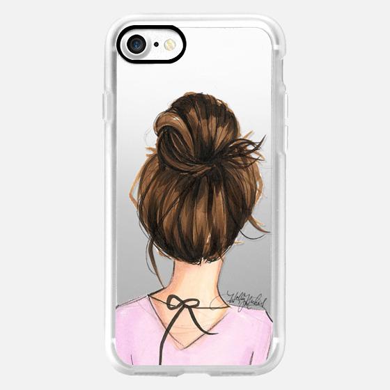 Mix and Match BFF Cases, Brunette Left Side (Fashion Transparent Phone Case) - Classic Grip Case
