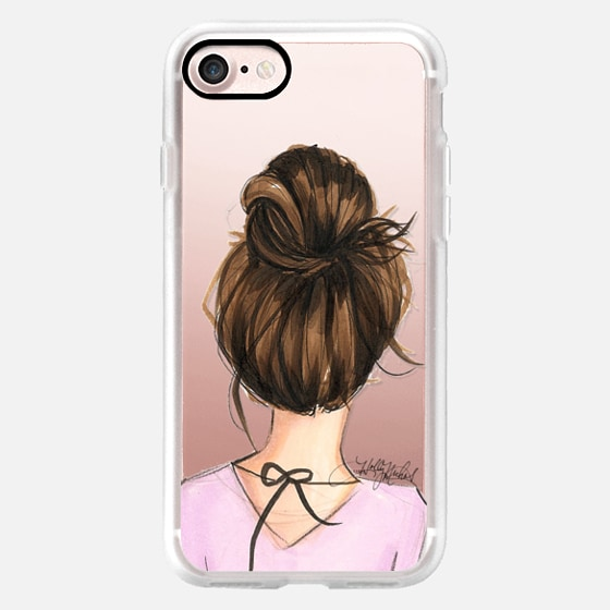 Mix and Match BFF Cases, Brunette Left Side (Fashion Transparent Phone Case) -
