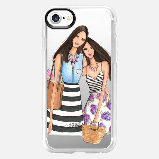 Mother's Day (Brunette Fashion Illustration Transparent Case) - Snap Case