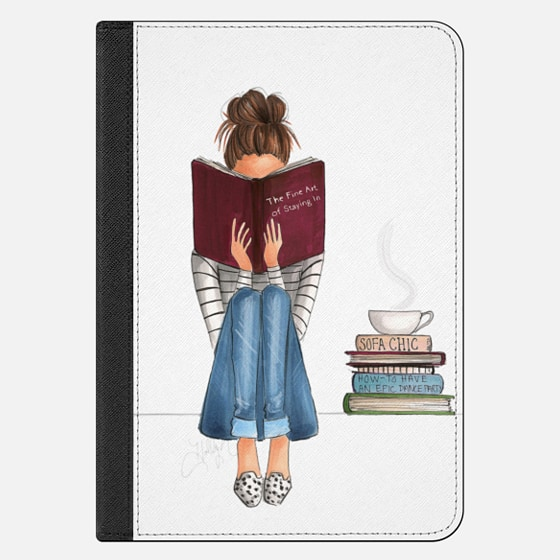 iPad Mini 4 Case - The Fine Art of Staying In (Transparent iPad Case)