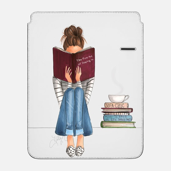 "iPad Pro 12.9"" スリーブ - The Fine Art of Staying In (Transparent iPad Case)"
