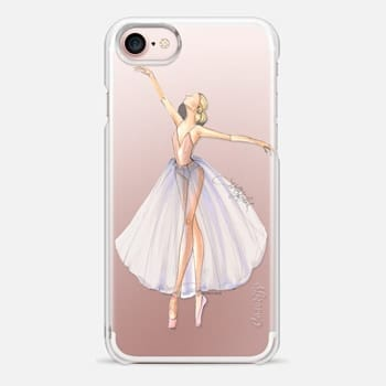 iPhone 7 Case Ballet Dancer 3 (Fashion Illustration Transparent Case)