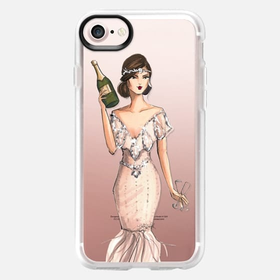 I'll Bring the Bubbly (Champagne Girl, Fashion Illustration Clear Case) -