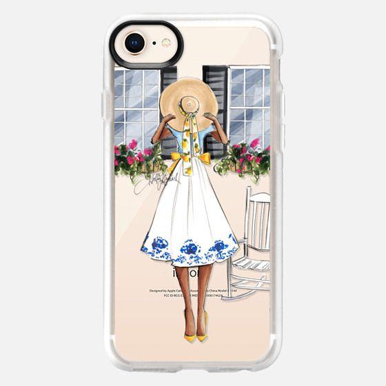 Charmed (Fashion Illustration, Darker Skin Tone, Transparent Case) - Snap Case