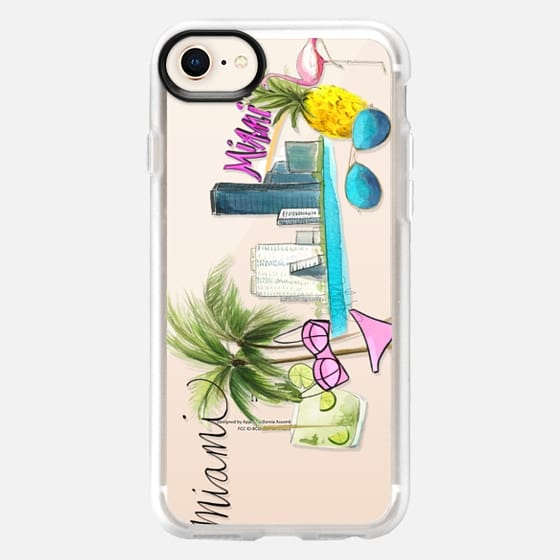 Miami Whimsy (Transparent) - Snap Case