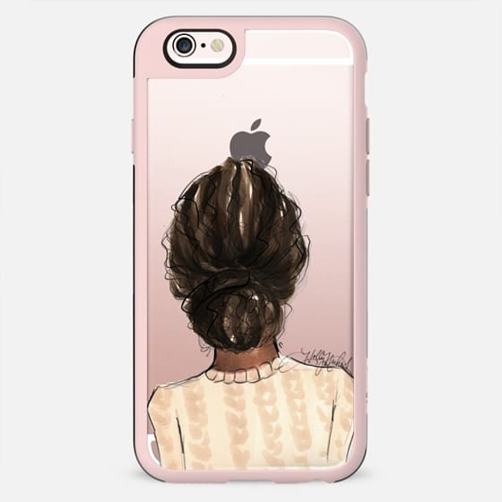 Mix and Match BFF Cases, Natural Hair Right Side (Fashion Transparent Phone Case) - New Standard Case