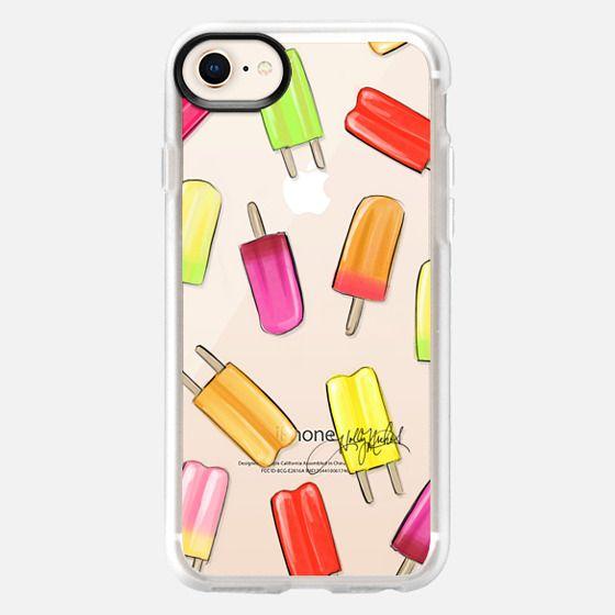 Popsicle Shuffle (Fashion Illustration Transparent Case) - Snap Case