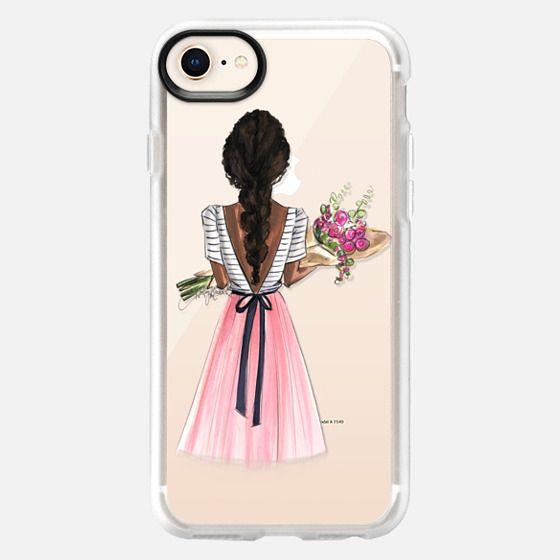Bouquet (Darker Skin Option 1/4, Fashion Illustration Transparent Case) - Snap Case