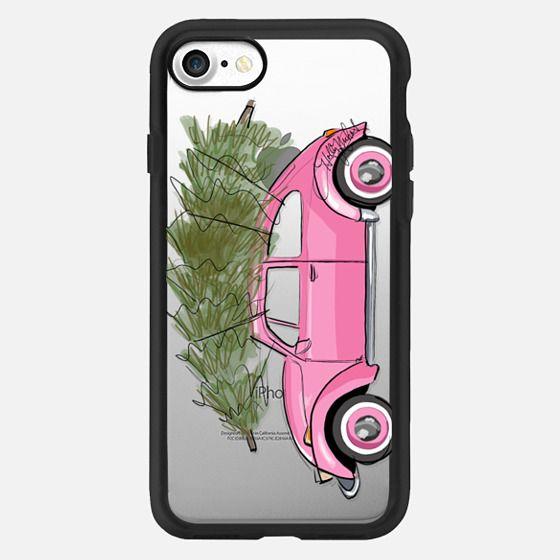 Holiday Ride (Christmas Tree Fashion Illustration Transparent Case) -
