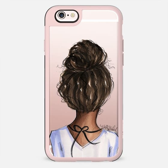 Mix and Match BFF Cases, Natural Hair Left Side (Fashion Transparent Phone Case)