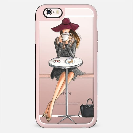 Lady Latte, Coffee Girl (Transparent) - New Standard Case