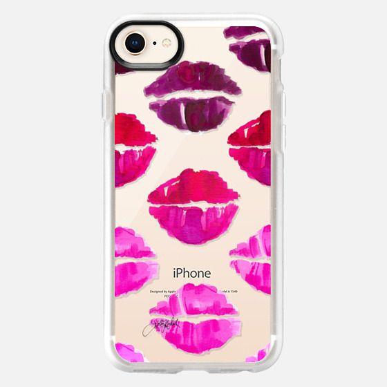 Ombré Lips II (Fashion Illustration Transparent Phone Case) - Snap Case