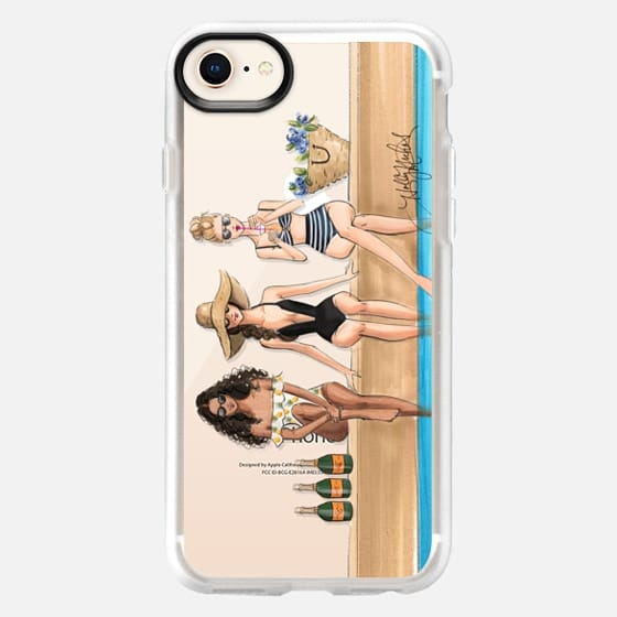 The Weekenders (Fashion Illustration Transparent Phone Case) - Snap Case